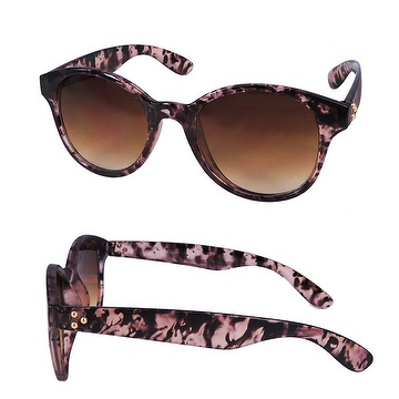 Fashion Cat Eye PC sunglasses with DEMI pattern