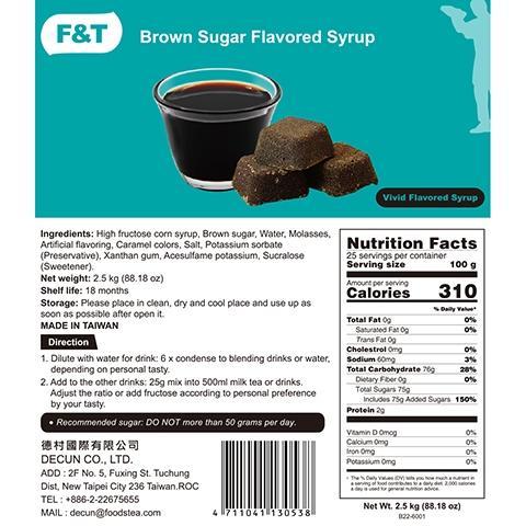 Brown Sugar flavor Syrup