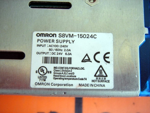 OMRON S8VM-15024C S8VM-15024/C POWER SUPPLY