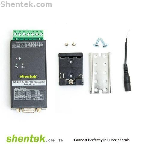 Shentek RS232 To RS485 RS422 Bi-direction Serial Converter