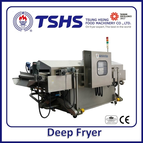 Industrial Continuous Stainless Steel Fish Lpg Gas Fryer Machine