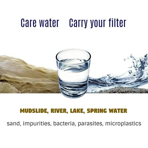 Care water, carry filter.
