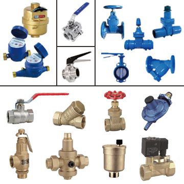 Water Meters, Stainless Steel Ball Valves, Sanitary Butterfly Valves, Ductile Iron Gate Valves, Butterfly Valves, Swing Check Valves, Y Strainers, Brass Ball Valves, Brass Gate Valves, Safety Valves.