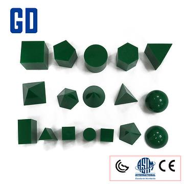 3D Geo Solids Set-green