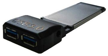 USB 3.0 2-Port Express Card