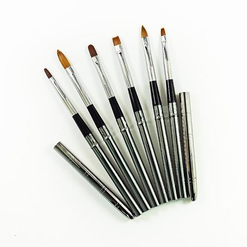 SableAcrylic Painting 3D Falt Oval Nail Art Brush Set