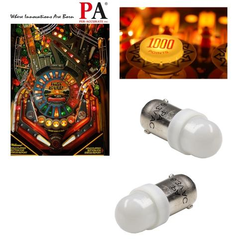 Pinball 2 LED Bulb, Pinball LED Light 2 SMD 2835 Ba9s #44 T4W 1445 wedge 6.3v Pinball Bulb(White)