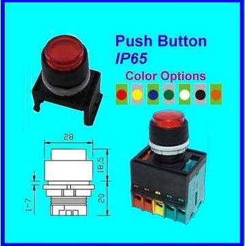 Taiwan Installable Push Button Switch Waterproof And