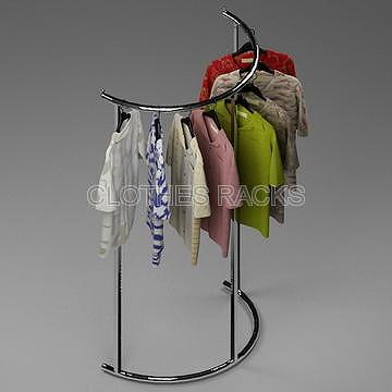 Adjustable Half Round Garment Rack