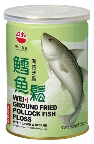 Ground Fried Pollock Fish Floss (with Laver & Sesame) 150G