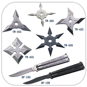 BUTTERFLY KNIVES & THROWING STAR