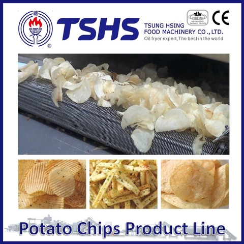 Made in Taiwan High Quality Burts Potato Chips Line