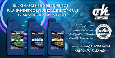 Oil Knight Engine Oil- SN/CF Automotive Used