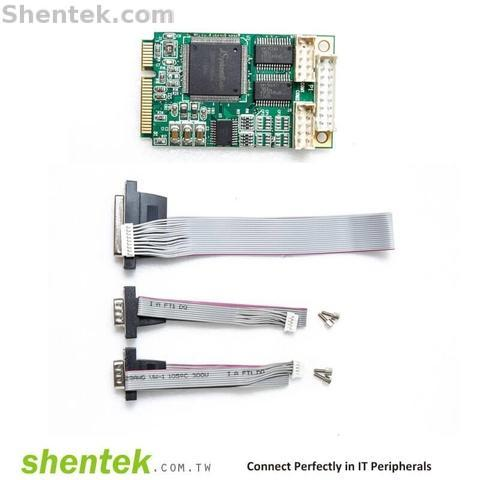 Shentek Serial RS232 2 Port Parallel 1 Port Mini PCIe Card