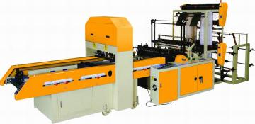 FULLY AUTOMATIC HIGH SPEED DOUBLE LAYER BOTTOM SEALING BAGS & T-SHIRT BAGS MAKIN
