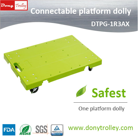 DTPG-1R3AX Connectable platform dolly green a