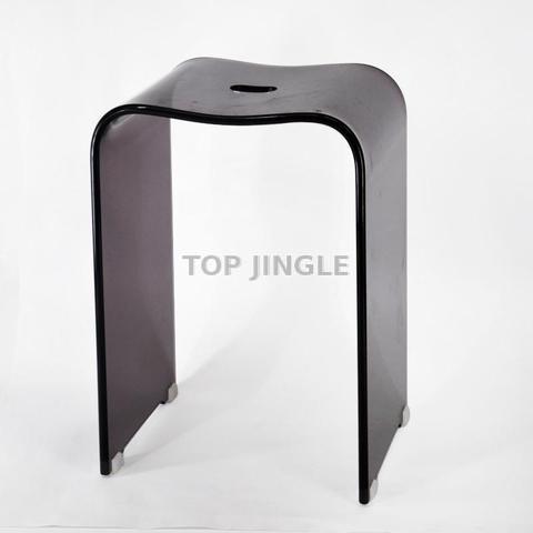 Strange Black Acrylic Bathroom Stool Taiwantrade Com Customarchery Wood Chair Design Ideas Customarcherynet