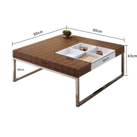 Walnut Coffee Table with Reversible Decorative Tray