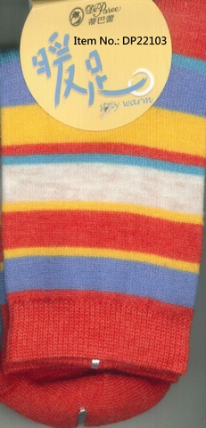 Socks, Deparee Wool-Blend Bold Colored Striped Crew Socks