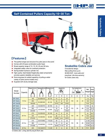 High-Quality Long Hydraulic 3-Jaw Puller Set