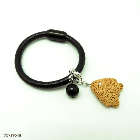 Scented Essential Oil Tropical Fish Leather Bracelet