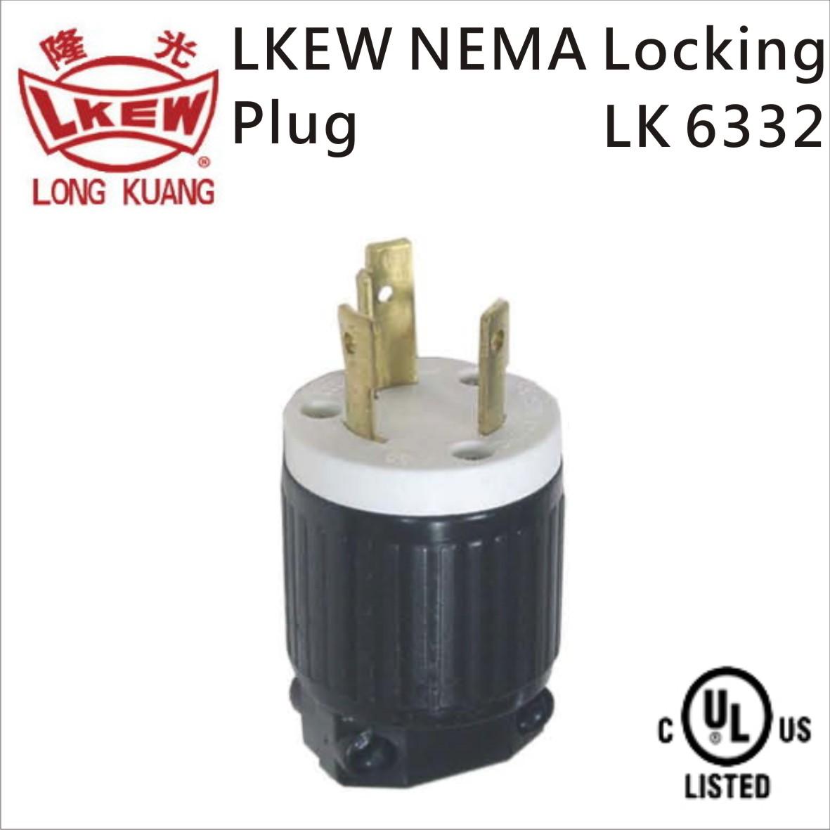 NEMA L6-30P Locking Plug