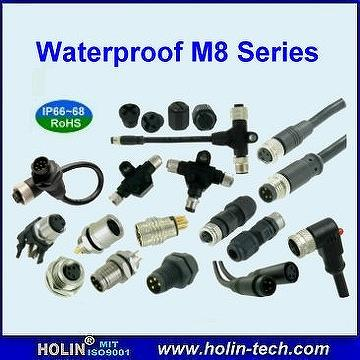 Waterproof M8 Sensor Connector & Cable Assembly and Accessory