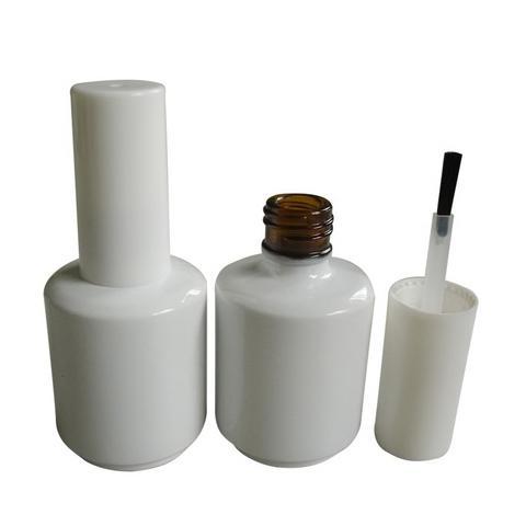 15ml Amber Glass UV Gel Polish Bottle White