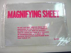 Lupa de lectura de plástico flexible de PVC de página completa