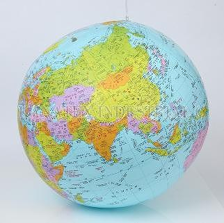 Inflatable Globe World Map. Hanging Educational Inflatable World Globe Taiwan  KANATEX