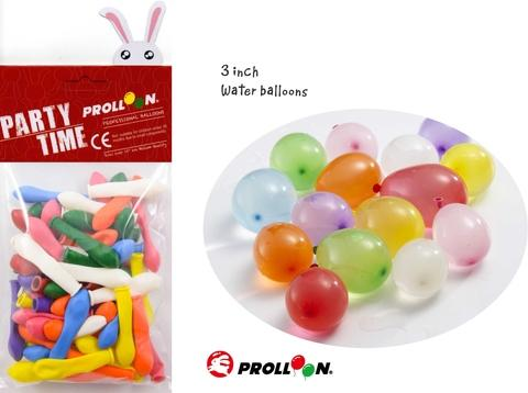 3 inch WATER BALLOONS - party balloon package