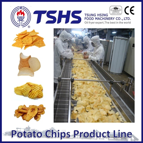 Made in Taiwan High Quality RUFFLES Potato Chips Fryer Line