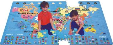 World Map Puzzle 60 pcs/252 pcs - EVA Foam | Taiwantrade.com