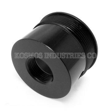 CNC lathe turned parts Aluminum 6061 T6 Glossy Black Anodized Medical Device Part Bypass Casing