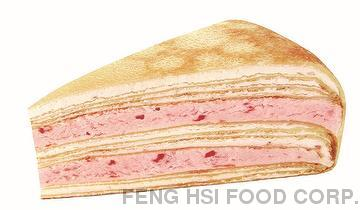 Tasty Strawberry Mille Crepe Cake