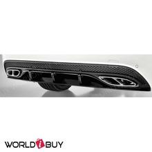 Rear Diffuser Apron Black for Mercedes W205 AMG A2058804603