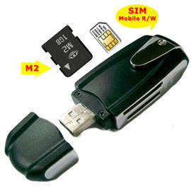 39 in 1 USB Multi Card Reader, SIM Card and M2 Card Plus