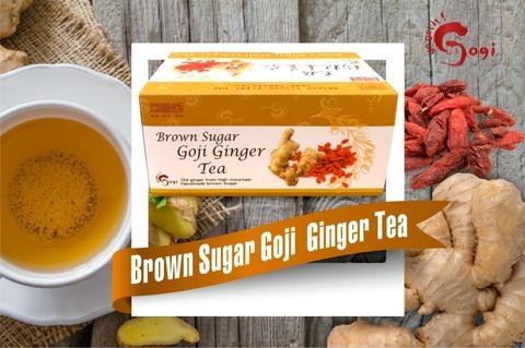 Brown Sugar Goji Ginger Tea