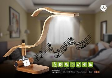 ELEGANT & SIMPLY WIRELESS SPEAKER WITH DIMMABLE LED LIGHTING