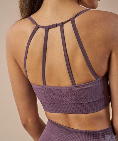 4015 super comfy seamless athletic sports bras purple