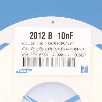 Taiwan CL21B103KBANNNC SAMSUNG MLCC 0805 10nF 50V X7R SMD ...