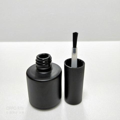 8ml Matte Black Glass UV Gel Nail Polish Bottle