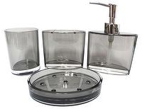 Oval Clear Bathroom Set