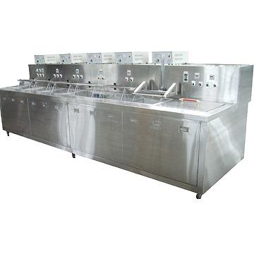 Semi-Auto Multi-Tanks Ultrasonic Cleaning Machine