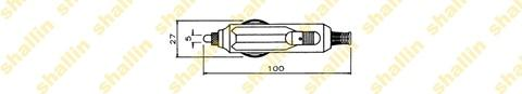Cigarette connector, auto plug with LED and 5A fuse