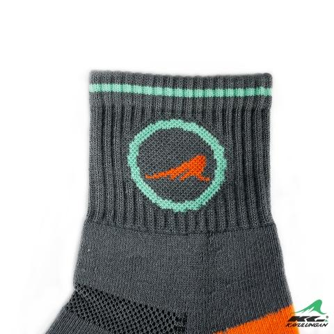 KAVULUNGAN Sport Health Socks Gray with Orange Patterns