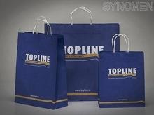 2 colors 100%ink printing paper bag, paper bags, carrier bags, shopping bags, paper shopping bags, Bleach kraft paper bags