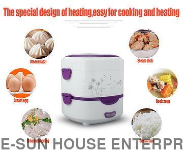 Electric Cooking Lunch Box with two layer