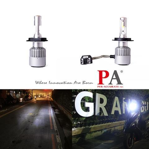 PA H4 Car Headlight 120W High Power COB LED Automotive Lamp Bulb