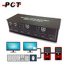 2 Port Dual HDMI USB KVM Switch w / Audio & Mic.